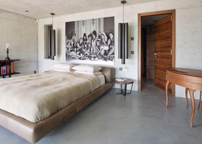 chambre à coucher, intérieur villa haut standing à Genolier