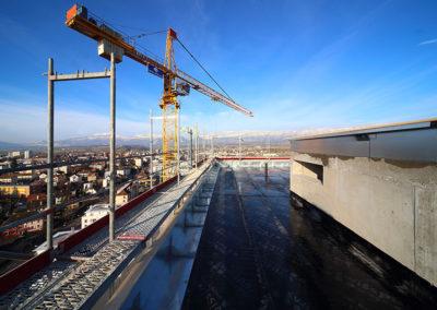 construction de la Tour Haldimand à Yverdon