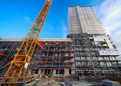 Photo construction de la Tour Haldimand à Yverdon