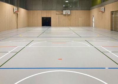 Salle de gym, collège du Rionzi