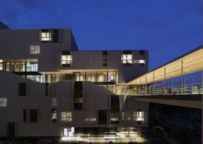 Bâtiment Résidence étudiants du Grand Morillon, vue de nuit