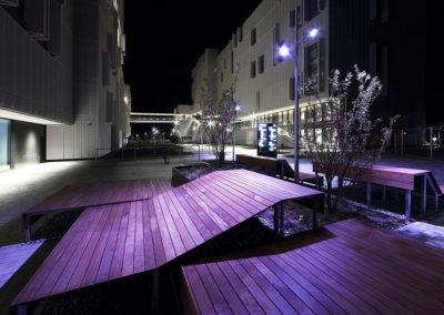Bâtiment de nuit, Résidence étudiants du Grand Morillon